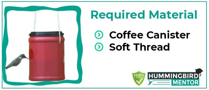 Coffee canister homemamde hummingbird feeders1