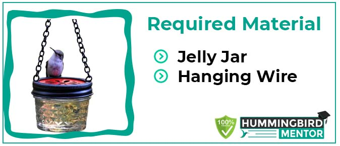 Jelly jar homemade hummingbird feeder